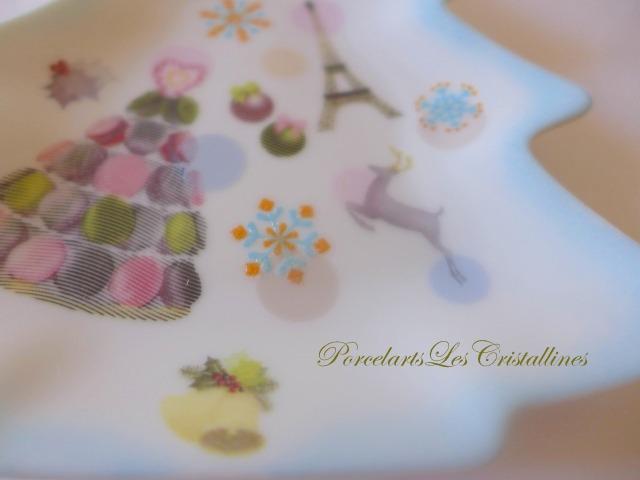福岡ポーセラーツ・ポーセリンアート教室・お稽古・習い事・サロン・クリスタリーヌのポーセラーツ クリスマス作品